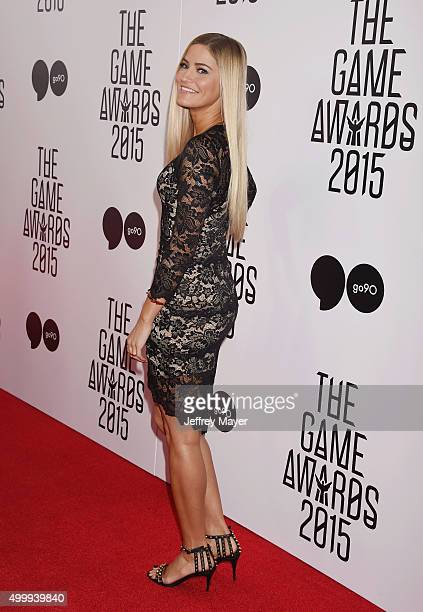 YouTube personality/author iJustine arrives at The Game Awards 2015 - Arrivals at Microsoft Theater on December 3, 2015 in Los Angeles, California.