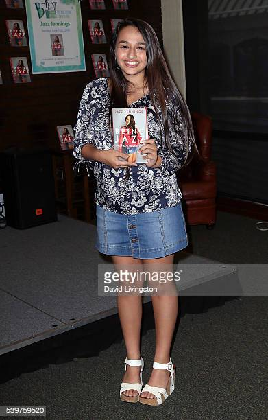 YouTube personality/LGBTQ rights activist Jazz Jennings attends a signing for her book Being Jazz My Life as a Teen at Barnes Noble at The Grove on...