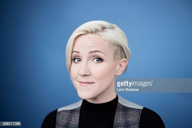 YouTube sensation Hannah Hart poses for a portrait at the Tribeca Film Festival on April 20 2016 in New York City