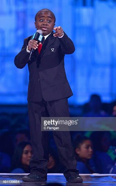Youtube sensation Kid President aka Robby Novak speaks during 'We Day California' at SAP Center on February 25 2015 in San Jose California