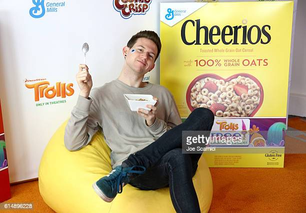 YouTube sensation Ricky Dillon voice of Aspen Heitz in DreamWorks Trolls hosts General Mills Cereal Bedhead Dance Party on October 15 2016 in Los...