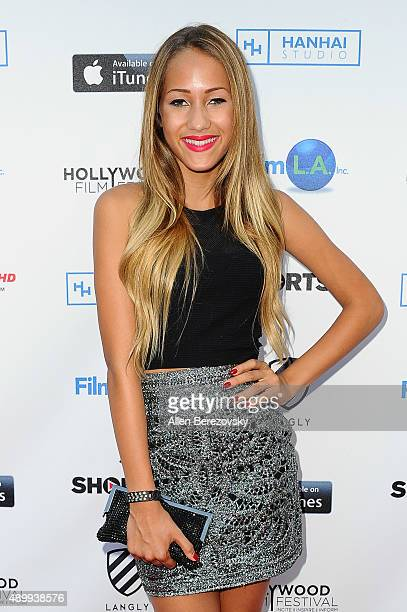 Youtube sensation Skylar Stecker attends the 2015 Hollywood Film Festival Opening Night Gala on September 24 2015 in Los Angeles California