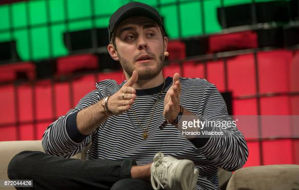 YouTube Star Alfie Deyes of Pointless Blog attends a discussion about 'Cult of personality' during the final day of Web Summit in Altice Arena on...