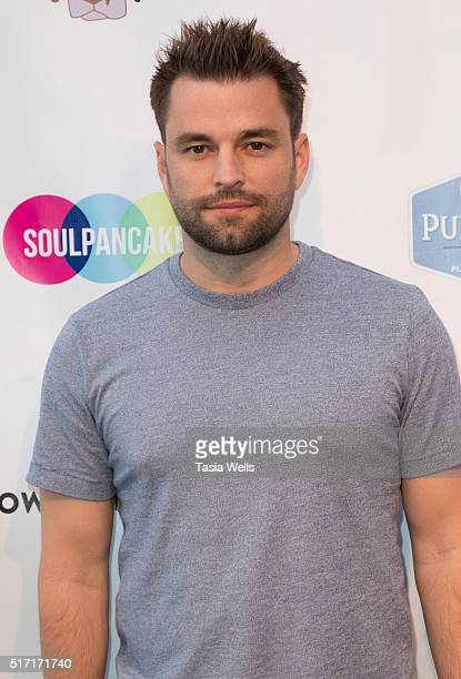 YouTube star Chris Thompson attends SoulPancake's Puppypalooza Party at SoulPancakes Headquarters on March 23 2016 in Los Angeles California