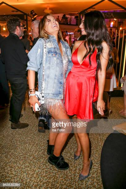Youtube star Dagi Bee and Youtube star Paola Maria Koslowski during the Echo Award after show party at Palais am Funkturm on April 12 2018 in Berlin...