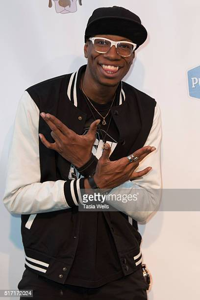YouTube star Flitz attends SoulPancake's Puppypalooza Party at SoulPancakes Headquarters on March 23 2016 in Los Angeles California