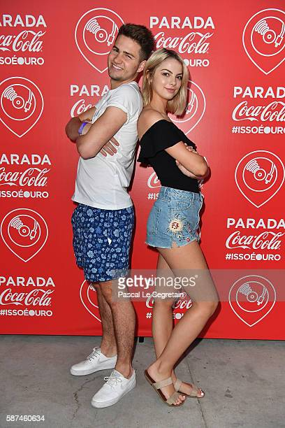 YouTube star Jake Boys and actress Allie Evans stop by the ThatsGold CocaCola experience at Olympic Boulevard on August 8 2016 in Rio de Janeiro...