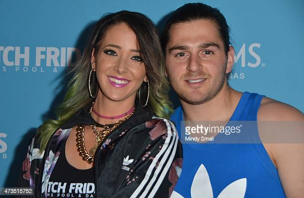 YouTube Star Jenna Marbles and Julien Solomita arrive as Jenna Marbles hosts Ditch Fridays at Palms Pool Dayclub at the Palms Casino Resort on May 15...
