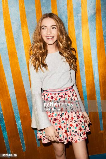 YouTube star Lauren Orlando is photographed for Tiger Beat Magazine on November 25 2017 at Sid's Gold Request Room in New York City