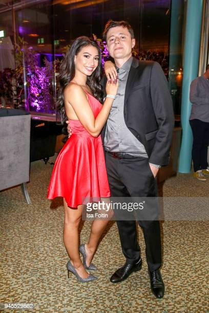 Youtube star Paola Maria Koslowski and her husband Sascha Koslowski during the Echo Award after show party at Palais am Funkturm on April 12 2018 in...