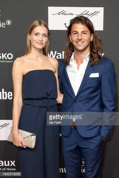Youtube star Riccardo Basile and Karoline Seul attend the YouTube Goldene Kamera Digital Award at Kraftwerk Mitte on September 27 2018 in Berlin...