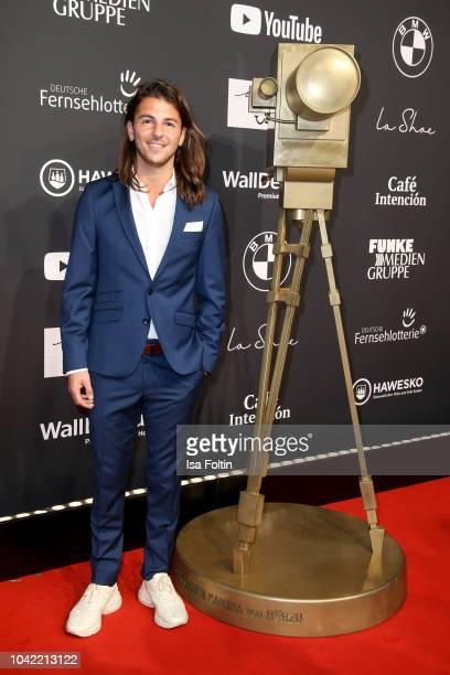 Youtube star Riccardo Basile attends the YouTube Goldene Kamera Digital Award at Kraftwerk Mitte on September 27 2018 in Berlin Germany