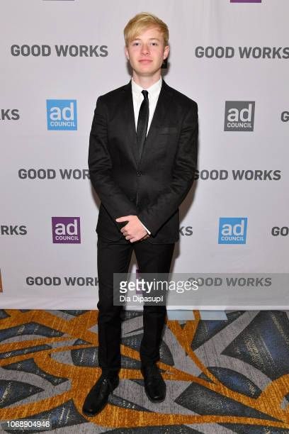 YouTube star Sam Golbach attends the Ad Council's 65th Annual Public Service Award Dinner at New York Hilton Midtown on December 5 2018 in New York...