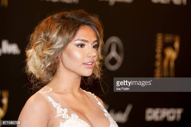 Youtube star Shirin David arrives at the Bambi Awards 2017 at Stage Theater on November 16 2017 in Berlin Germany