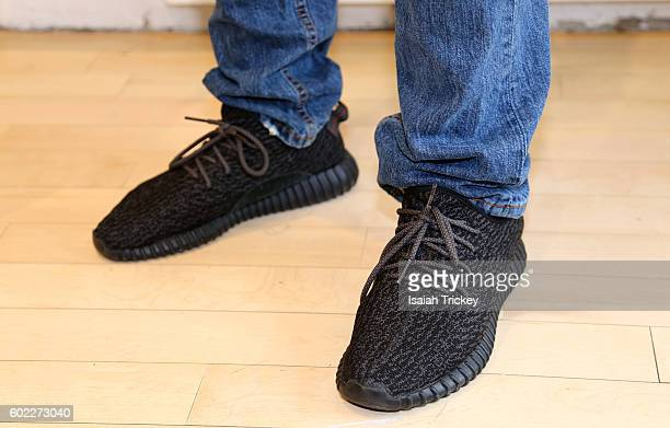 Youtube star TPindell wears Adidas Men Yeezy Boost 350 shoes at the YouTube and Blackhouse event 'Finding Success on YouTube' at YouTube Space...