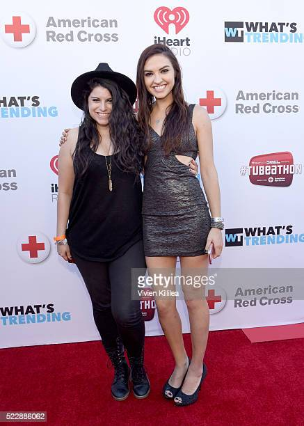 YouTube stars Bria Kam and Chrissy Chambers attends What's Trending's Fourth Annual Tubeathon Benefitting American Red Cross at iHeartRadio Theater...
