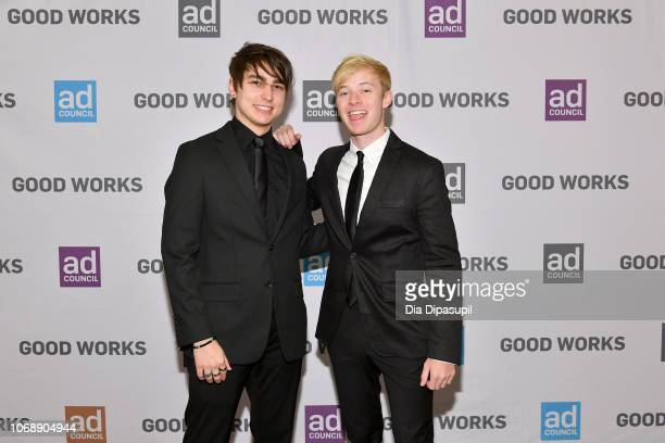 YouTube stars Colby Brock and Sam Golbach attend the Ad Council's 65th Annual Public Service Award Dinner at New York Hilton Midtown on December 5,...