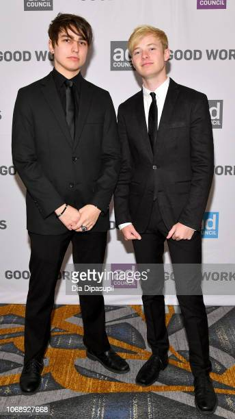 YouTube stars Colby Brock and Sam Golbach attend the Ad Council's 65th Annual Public Service Award Dinner at New York Hilton Midtown on December 5...