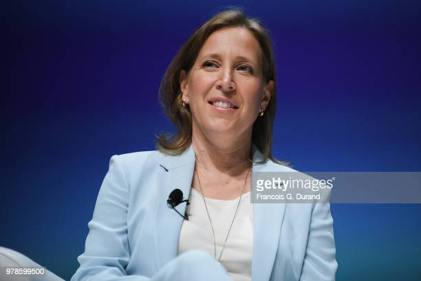 Youtube Susan Wojcicki speaks during the 'What Matters Next' session during the Cannes Lions Festival 2018 on June 19, 2018 in Cannes, France.