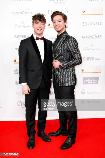 Youtube twins Roman Lochmann and Heiko Lochmann alias Die Lochis during the Goldene Henne on September 28, 2018 in Leipzig, Germany.