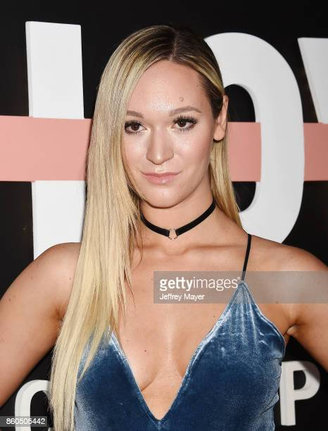 YouTuber Alisha Marie arrives at the Premiere Of YouTube's 'Demi Lovato Simply Complicated' at the Fonda Theatre on October 11 2017 in Los Angeles...