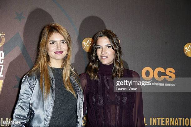 Youtuber Andy Raconte and Actress Charlotte Gabris attend Closing Ceremony during the 20th l'Alpe d'Huez International Comedy Film Festival on...