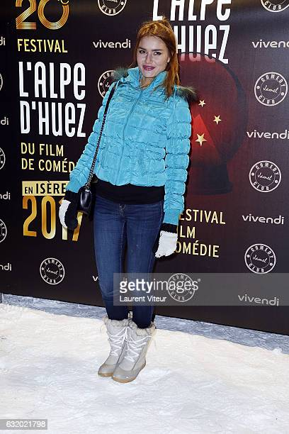 Youtuber Andy Raconte attends the Photocall 'Le Jamel Comedy Club prend de l'Altitude at Le Signal at a 2108 meter height on January 18 2017 in Alpe...