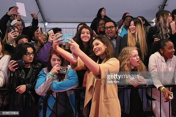 YouTuber Bethany Mota poses for a photo during YouTube Brandcast presented by Google on May 5 2016 in New York City