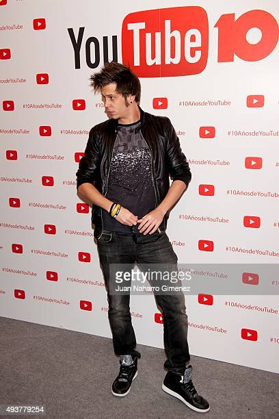 Youtuber El Rubius attends YouTube 10th Anniversary Gala at Giner de los Rios Foundation on October 22 2015 in Madrid Spain