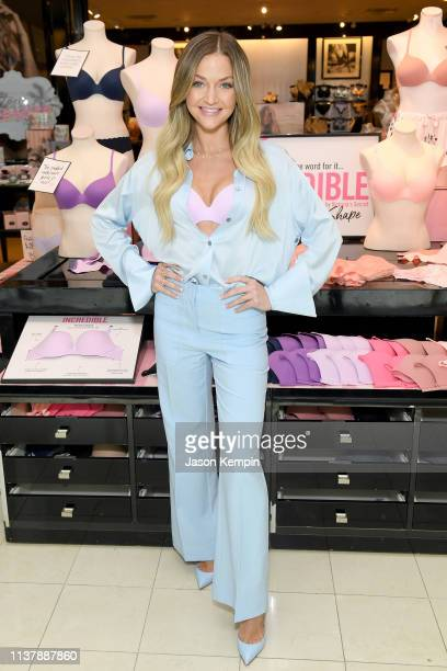 Youtuber Erika Costell and angel Alexina Graham visit Nashville on The Incredible by Victoria's Secret launch tour on April 18 2019 in Nashville...