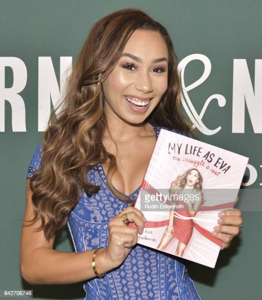 YouTuber Eva Gutowski attends book signing for My Life As Eva The Struggle Is Real at Barnes Noble at The Grove on February 18 2017 in Los Angeles...