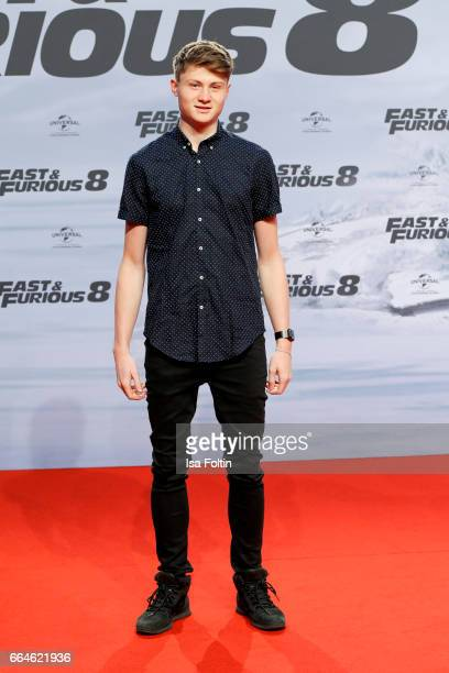 Youtuber Felix von der Laden alias Dner attends the premiere for the film 'Fast & Furious 8' at Sony Centre on April 4, 2017 in Berlin, Germany.