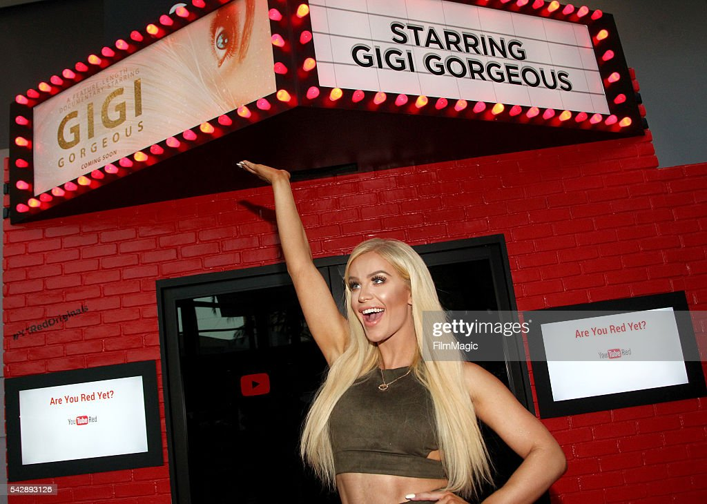 YouTuber Gigi Gorgeous attends the YouTube Red Originals Experience during VidCon at the Anaheim Convention Center on June 24, 2016 in Anaheim, California.