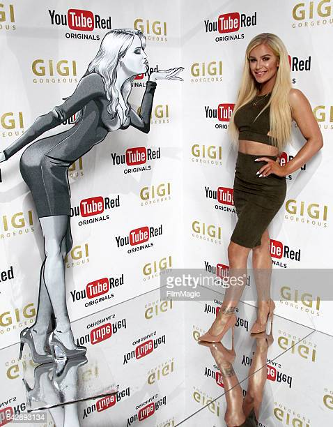 YouTuber Gigi Gorgeous attends the YouTube Red Originals Experience during VidCon at the Anaheim Convention Center on June 24 2016 in Anaheim...