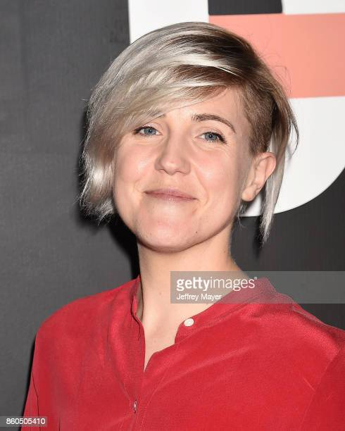YouTuber Hannah Hart arrives at the Premiere Of YouTube's 'Demi Lovato Simply Complicated' at the Fonda Theatre on October 11 2017 in Los Angeles...