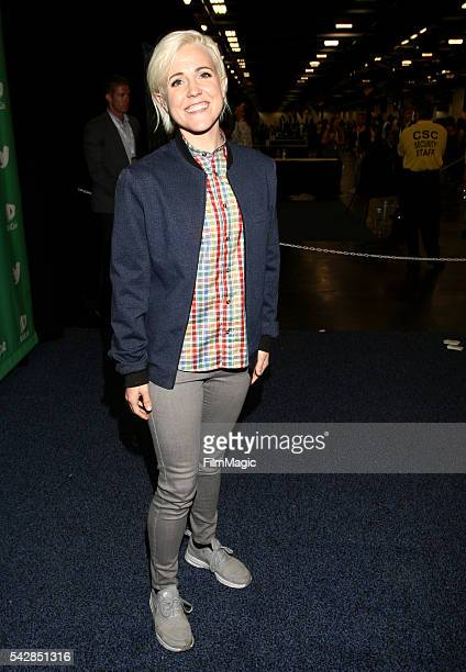 YouTuber Hannah Hart attends VidCon at the Anaheim Convention Center on June 24 2016 in Anaheim California
