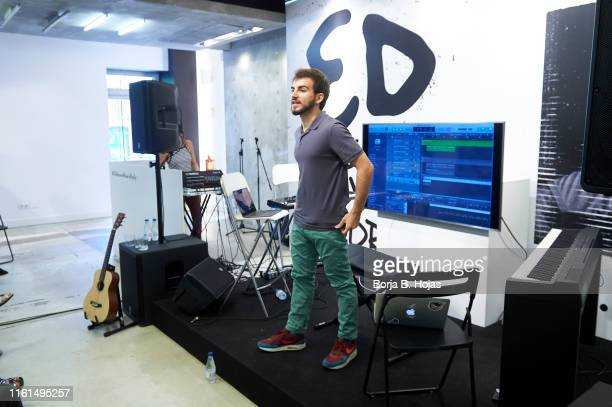 Youtuber Jaime Altozano during opening of Ed Sheeran Madrid PopUp Store on July 11 2019 in Madrid Spain