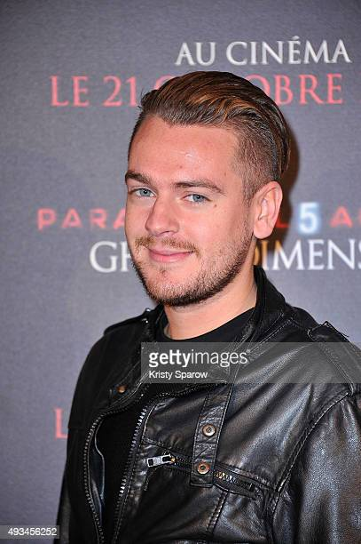 Youtuber JeremStar attends the Premiere of 'Paranormal Actvity 5 Ghost Dimension' at Cinema Gaumont Capucine on October 20 2015 in Paris France