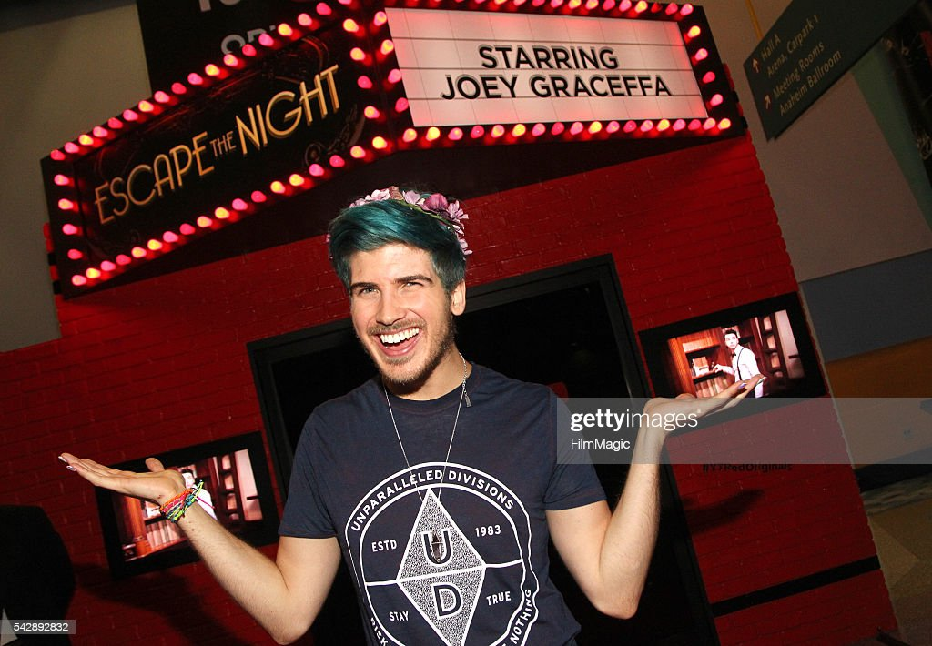YouTuber Joey Graceffa attends the YouTube Red Originals Experience during VidCon at the Anaheim Convention Center on June 24, 2016 in Anaheim, California.