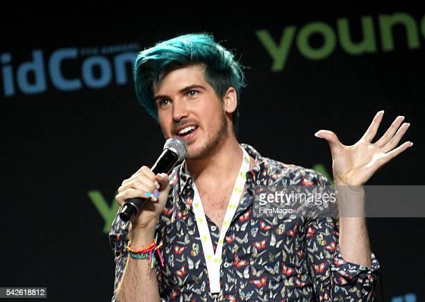 Youtuber Joey Graceffa premieres his YouTube Red Original Escape 'The Night' during VidCon at the Anaheim Convention Center on June 23 2016 in...