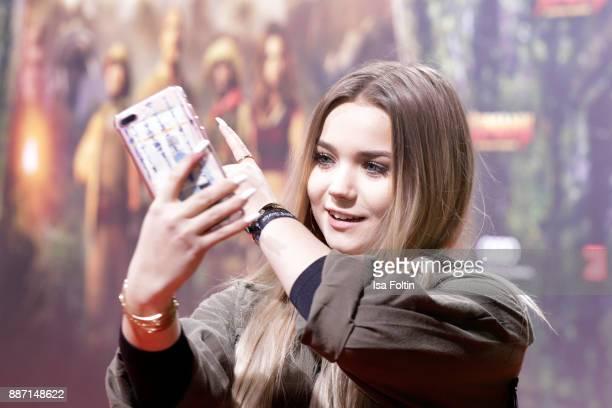 Youtuber Julia Beautx attends the German premiere of 'Jumanji Willkommen im Dschungel' at Sony Centre on December 6 2017 in Berlin Germany