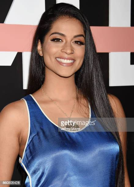 YouTuber Lilly Singh arrives at the Premiere Of YouTube's 'Demi Lovato Simply Complicated' at the Fonda Theatre on October 11 2017 in Los Angeles...