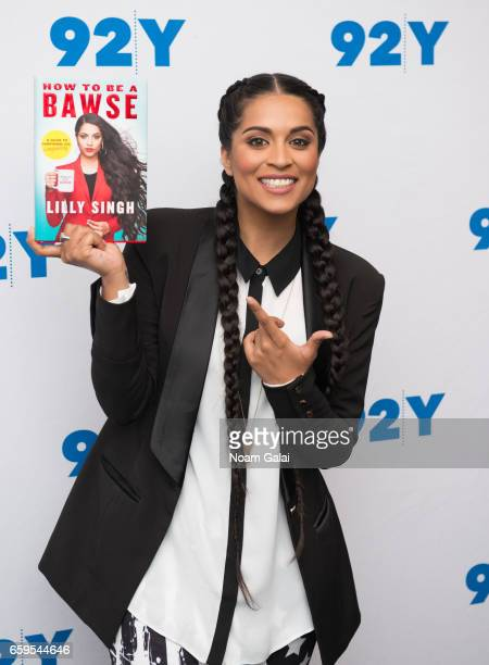 YouTuber Lilly Singh visits 92nd Street Y to discuss her book 'Lilly Singh How To Be A Bawse' at Kaufmann Concert Hall on March 28 2017 in New York...