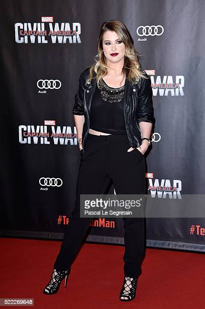 Youtuber Marie Lopez attends 'Captain America Civil War' Premiere at Le Grand Rex on April 18 2016 in Paris France