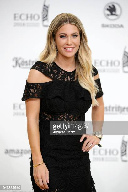 Youtuber Mrs Bella arrives for the Echo Award at Messe Berlin on April 12 2018 in Berlin Germany