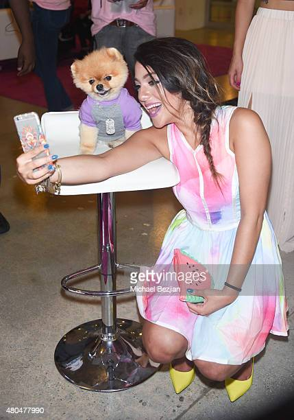 YouTuber Niki Demartino takes a selfie at 4th Annual BeautyCon Los Angeles Festival Presented By Cosmopolitan Seventeen and Cosmopolitan For Latina...