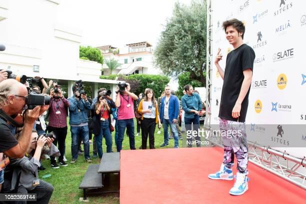 Youtuber Ruben Doblas 'El Rubius' at the photocall of Virtual Hero during the 51 edition of Festival Internacional de Cinema Fantastic de Catalunya...