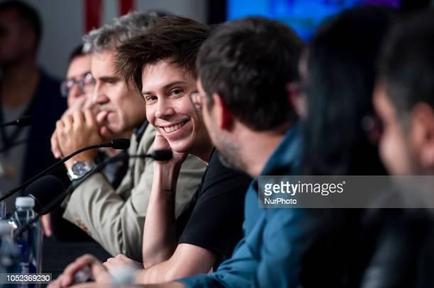 Youtuber Ruben Doblas 'El Rubius' at the press conference of Virtual Hero during the 51 edition of Festival Internacional de Cinema Fantastic de...