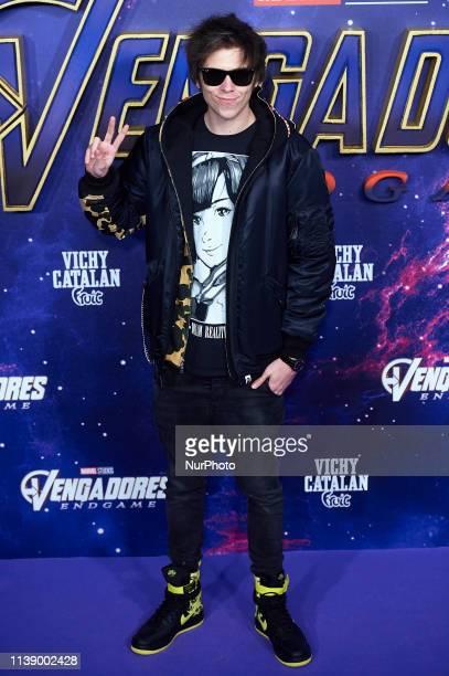 Youtuber Ruben Doblas 'El Rubius' attends 'Avengers Endgame' premiere at Capitol Cinema on April 23 2019 in Madrid Spain