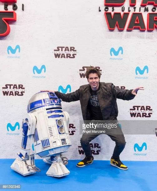Youtuber Ruben Doblas Gundersen 'El Rubius' attends the 'Star Wars Los Ultimos Jedi' Madrid Premiere at Kinepolis Cinema on December 12 2017 in...
